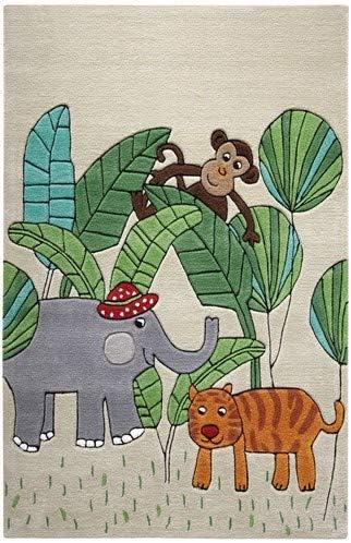 Smart Kids Tapis Jungle Friends Beige 110 X 170 Cm Tapis Enfants