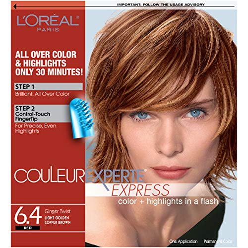 L'Oreal Paris Couleur Experte Color + Highlights in a Flash, Light Golden Copper-Brown Ginger - Hair Brown Eyes Color