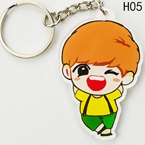 AhlsenL GOT7 Cute Cartoon Keychain Set for Womens Bag or Cell Phone or Car Pendant, Come and Get It GOT7 (JB) (Cartoon Flashlight Keychain)