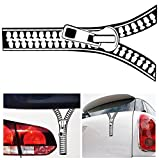 1-Pc Splendid Popular Funny Zipper Car Sticker Creative Door Decal SUV Auto Graphic Bumper Emblem Vinyl Color Black