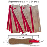 10 pcs 13'' (33cm) Squeegee Wooden Ink Scraper Silk Screen Printing Scratch Board
