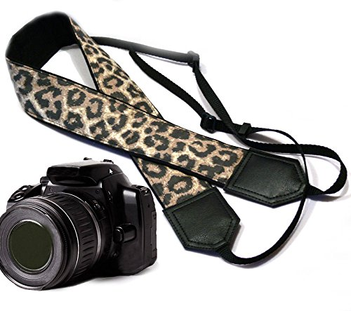 Leopard Camera Strap. Black and Brown Animal Print Camera Strap. Cheetah DSLR/SLR Camera Strap. Durable, Light Weight and Well Padded Camera Strap. Code ()