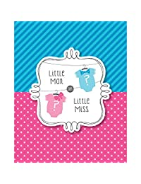 Creative Converting Bow Or Bowtie? Gender Reveal Party Invitations (8 Count)