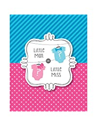 8-Count Baby Shower Invitations, Bow or Bowtie BOBEBE Online Baby Store From New York to Miami and Los Angeles