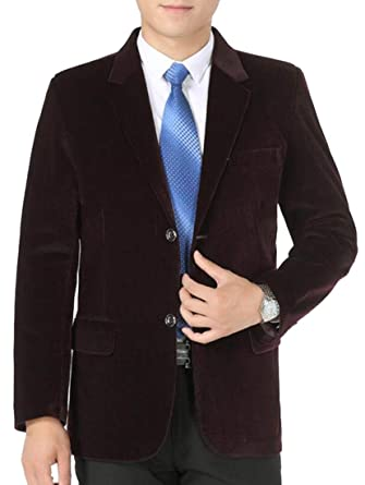 3ead1ff5843b ainr Mens Classic Solid Color Plus Size Corduroy Casual Suit Blazers Jacket  at Amazon Men's Clothing store: