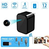 Mini Spy Camera-USB Charger Hidden Camera-SOOSPY Wireless WiFi 1080P Indoor Home Wall Charger Camera/Nanny Cam with Motion Detection/USB Port