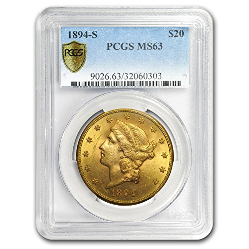 1894 S $20 Liberty Gold Double Eagle MS-63 PCGS Gold MS-63 PCGS