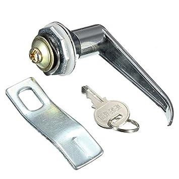 MS301-1 Vitrina Vitrina puerta corredera de cristal de cierre con llave pequeña eléctrico Gabinete de bloqueo: Amazon.es: Electrónica