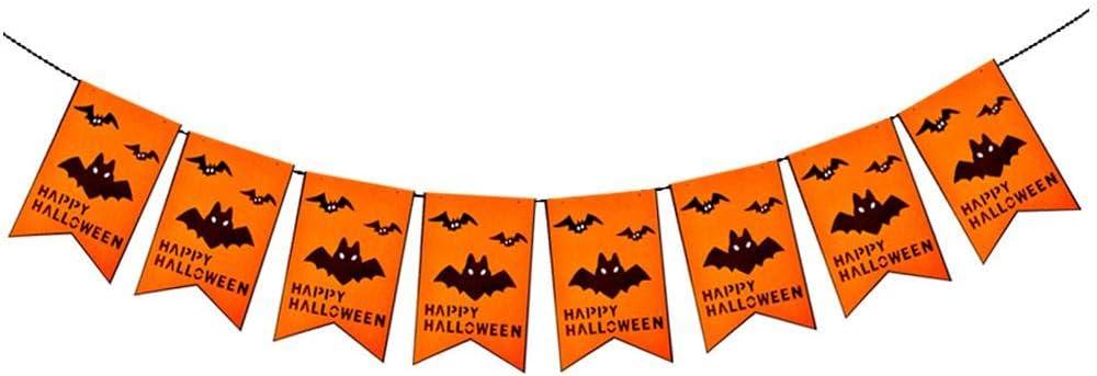 Seawang - Banderines de Tela no Tejida para Halloween, Halloween, diseño de Letras Colgantes: Amazon.es: Hogar