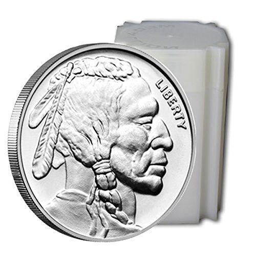US Shipping 1 oz. Pure Silver Buffalo Round - Roll of 20