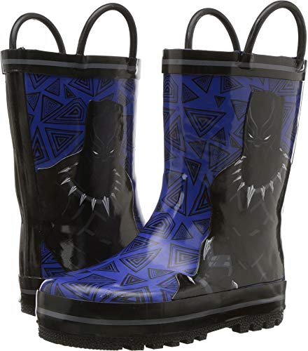 Favorite Characters Black Panther Children's Rainboots, 7 M US Toddler/LittleKid ()