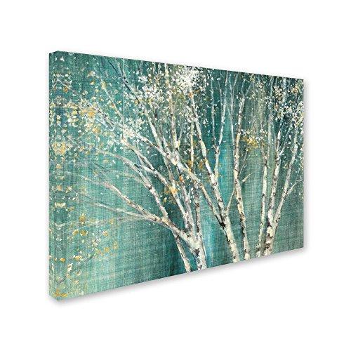 Trademark Fine Art Blue Birch by Julia Purinton, 14x19-Inch Canvas Wall Art by Trademark Fine Art (Image #1)