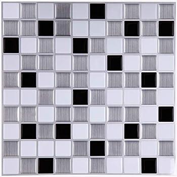 Ecoart peel and stick self adhesive wall tile for kitchen bathroom backsplash in - Pegatinas para azulejos ...