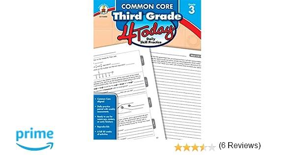 Amazon.com: Common Core Third Grade 4 Today: Daily Skill Practice ...