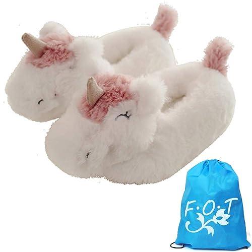Emoji Zapatillas de felpa Unicornio de invierno zapatos gafas zapato de caca Zapato suave de algodón de felpa Cálido Interior Unisex-Adulto adolescentes ...