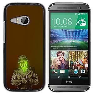 TopCaseStore / la caja del caucho duro de la cubierta de protección de la piel - Cartoon Character Mysterious Hero - HTC ONE MINI 2 / M8 MINI