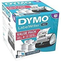 DYMO 4XL LabelWriter Label Printer Bundle Pack, 4 x 6 Labels (4 Rolls)