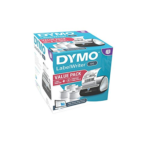DYMO 4XL LabelWriter Label Printer Bundle Pack, 4