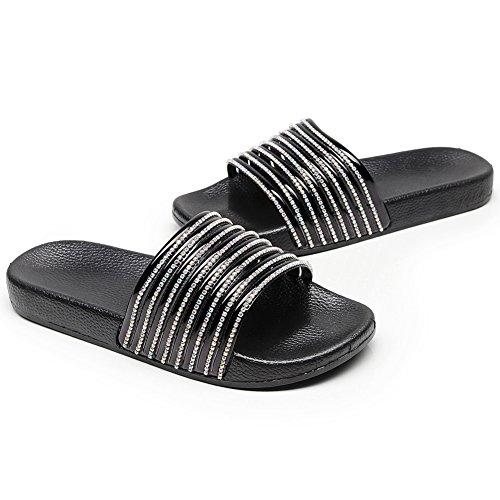 sulla Aperte Zkyo X schwarz Caviglia Donna Fgfa5q