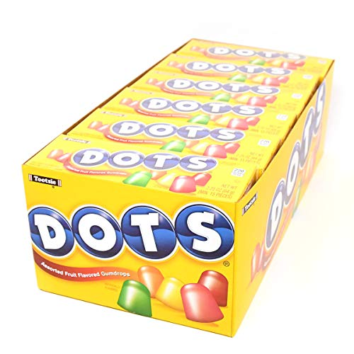 Dots Original Candy, Assorted Flavors, 2.25-Ounce Boxes (Pack of 24)]()