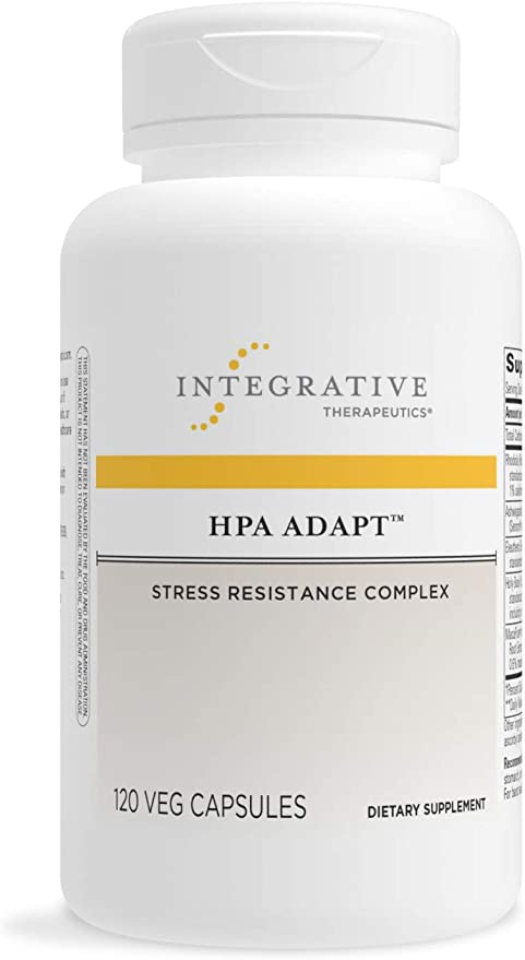Integrative Therapeutics - HPA Adapt (Hypothalamic Pituitary Adrenal) with Ashwagandha, Maca, and Rhodiola - Daytime Stress Relief - 120 Veg Capsules