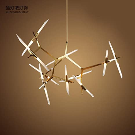 meiren @ Vintage de aluminio magnesio aleación de techo, nieve el corazón candelabros creativo,