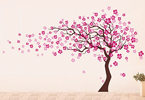 Pop Decors ''Dark Brown/Light Pink Go Left Cherry Blossom Tree Flowers'' Beautiful Wall Stickers for Kids Rooms by Pop Decors