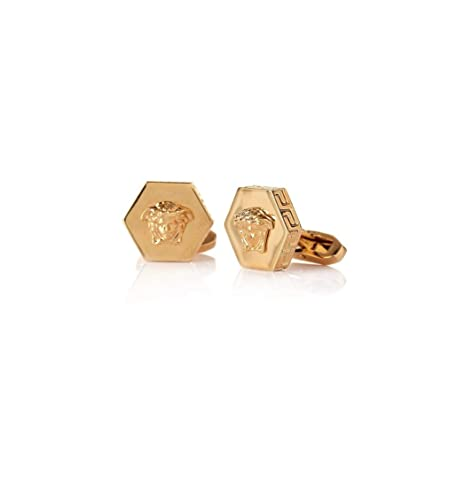 e949bc10e VERSACE Mens Hexagon Medusa Gold Cufflinks: Amazon.co.uk: Jewellery