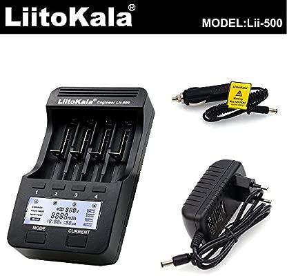 Lixada Lii-500 4 Ranuras Smart Inteligente Cargador de Batería para 3.7V Li-Ion/1.2V Ni-MH Cilíndrico