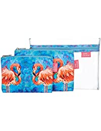 Belle Cosmetic Bag Set One Size Blue/pink multi