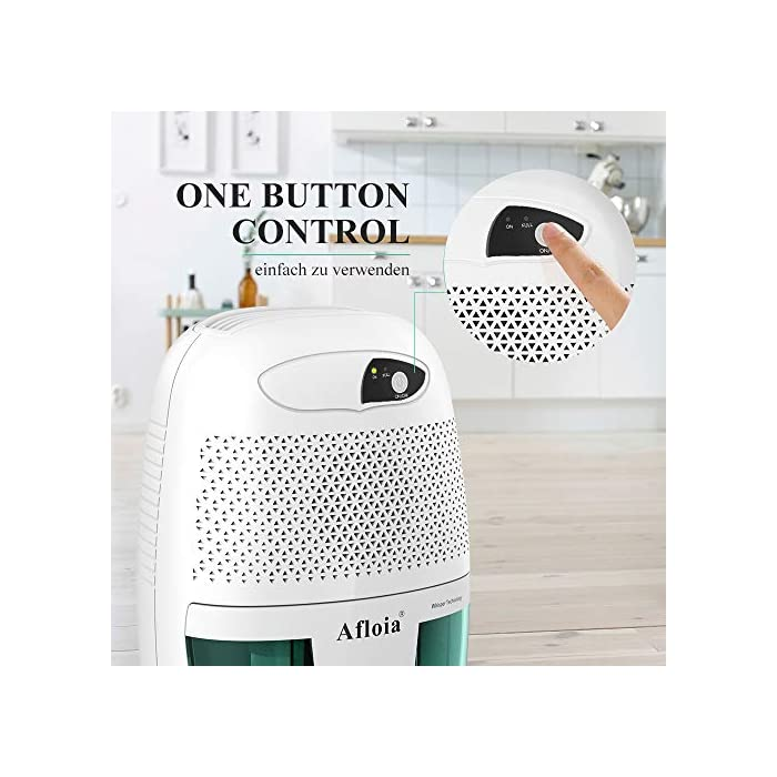 51fyBVekaFL ✔Silencioso: este deshumidificador eléctrico silencioso funciona silenciosamente, el ruido es inferior a 37dB, por lo que el mini deshumidificador no perturbará su trabajo, sueño o estudio. Perfecto para usar en la noche y áreas pequeñas. ✔Compacto y exquisito: este absorbedor de humedad portátil es muy flexible en aplicaciones, como baños y cocinas en la cocina. Y no recomendamos que utilice el deshumidificador mini cuando la humedad viva oscile entre 45% y 65%, porque la humedad más adecuada para la vida humana es de 45% a 65%. Pero depende de ti. ✔Apagado automático: el pequeño deshumidificador del baño se apagará automáticamente cuando el tanque de agua esté lleno y la luz indicadora de luz se iluminará para informarle que debe vaciar el tanque.