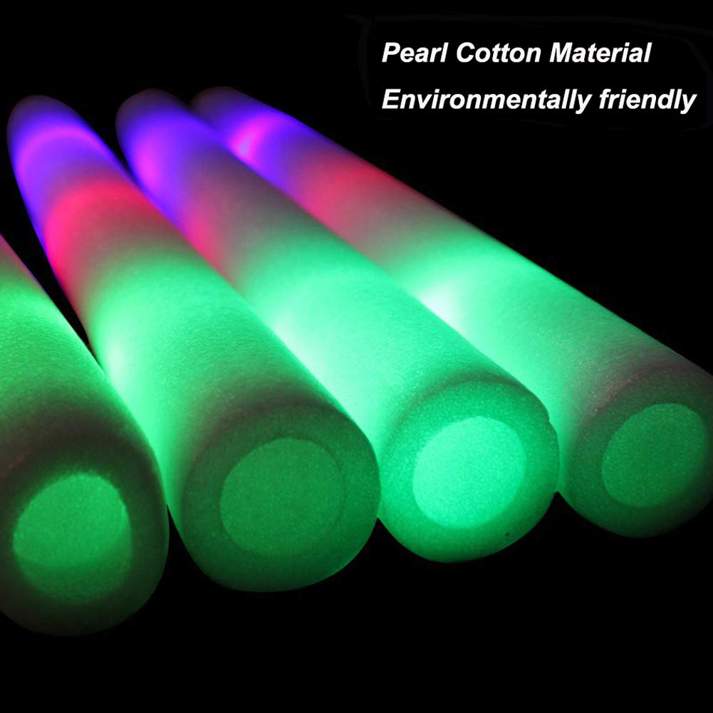 Foam Glow Sticks Bulk 50PCS - Light Up Toys Glow in The Dark Party Supplies with 3 Modes LED Flashing, Party Favors for Kids and Adults by AOLODA (Image #5)