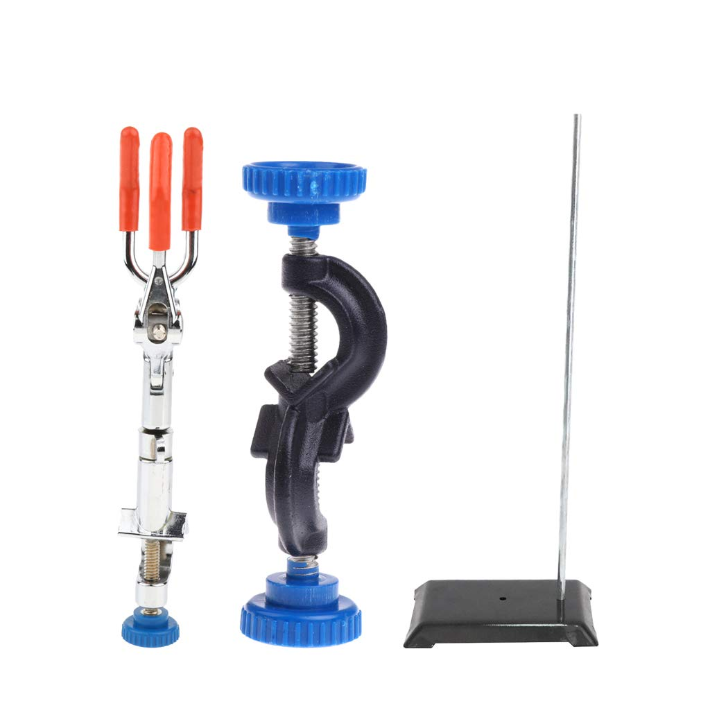As shown Clamp B 16mm Dolity Stand 20  15cm and 3Prong Extension Clip Clamp and Stand Clamp  as Shown, Clamp A 21mm
