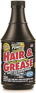 SCOTCH CORPORATION 1971 Hair & Grease Drain Opener, Black, 20 oz