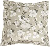 Peacock Alley Luxury Linens Zen 100-Percent Cotton Cherry Blossom Design European Pillow Sham