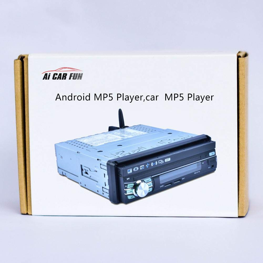 Descarga de Bluetooth Pantalla capacitiva 7 Funciones de luz de Color Sistema Android 6.0 navegador GPS WiFi Player de 7 Pulgadas StageOnline Reproductor de MP5 para Coche telesc/ópico autom/ático