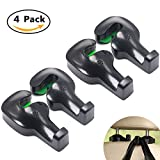 TuoO Universal Car Vehicle Back Seat Headrest Hanger or Headrest Hooks(4pack)