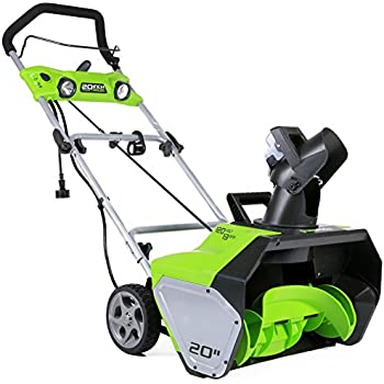 GreenWorks 2600202 13 Amp 20-Inch Corded Snow Thrower With Light Kit
