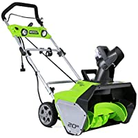 GreenWorks 2600202 13 Amp 20-Inch Corded Snow Thrower + $125 SYWRP