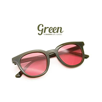 Liushop.co Moda Hipster Color Retro Cuadrado Rojo Gafas De ...
