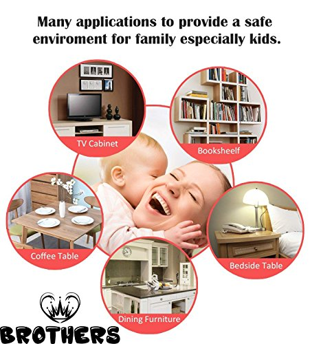 Corner Protector - Keep Babies from Sharp Edge of Table, Furniture and Desk - Best Baby Safety Corner Guards from Injuries - High Resistant Adhesive (20 Pack) by BROTHERS (Image #2)