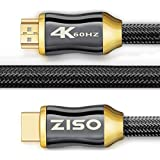 4K High Speed HDMI Cable 6 Feet-HDMI 2.0 Ready (4K 60Hz)- HDCP 2.2 ,Gold Plated Connectors- - Ethernet / Audio Return Channel , Supports Video 2160p HDS, Ultra HD blu-ray Xbox PS4 (28 AWG, 18Gbps)