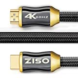 4K High Speed HDMI Cable 6 Feet-HDMI 2.0 Ready (4K 60Hz)- HDCP 2.2,Gold Plated Connectors- - Ethernet/Audio Return Channel, Supports Video 2160p HDS, Ultra HD blu-ray Xbox PS4 (28 AWG, 18Gbps)