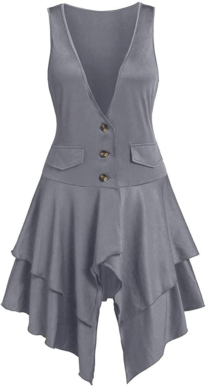 ALISIAM Vestido de Moda para Mujer Abrigo de Talla Grande ...