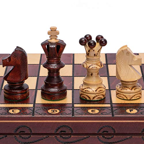 Ambassador Set - European International Chess Game Set, 21.7 Inches, Ambassador