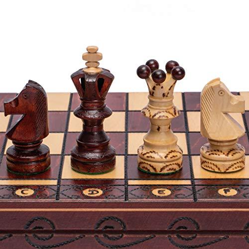 International Chess - European International Chess Game Set, 21.7 Inches, Ambassador