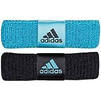 Adidas Mujeres 2 Pack Nuevo Wristband, Negro /
