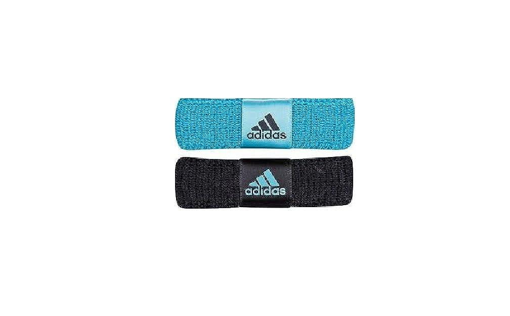Adidas Mujeres 2 Pack Nuevo Wristband, Negro / Azul