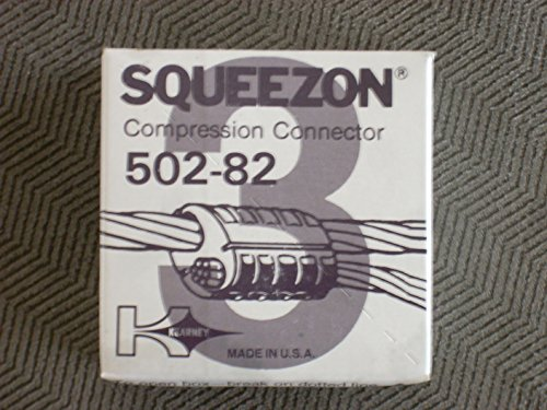 Kearney Squeezon Ultra Range Aluminum 502-82 Compression Connector D or D3 - 3 502 C