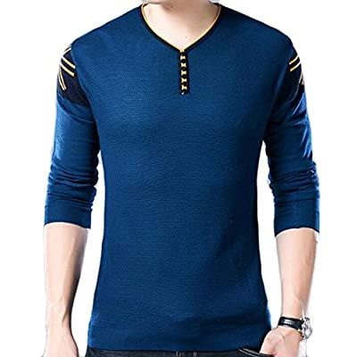 ainr Men's Basic Long Sleeve Warm Pullover Knitted Sweater free shipping
